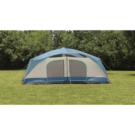 tent room texsport blue mountain 2 room cabin dome tent 656533 cabin tents at sportsman s guide