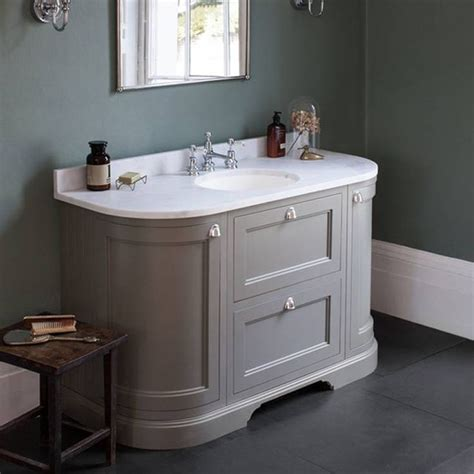 olive bathroom burlington olive 1340mm curved vanity unit with doors