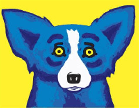 rodrigue blue an artist s best friend news feature news and events flyer