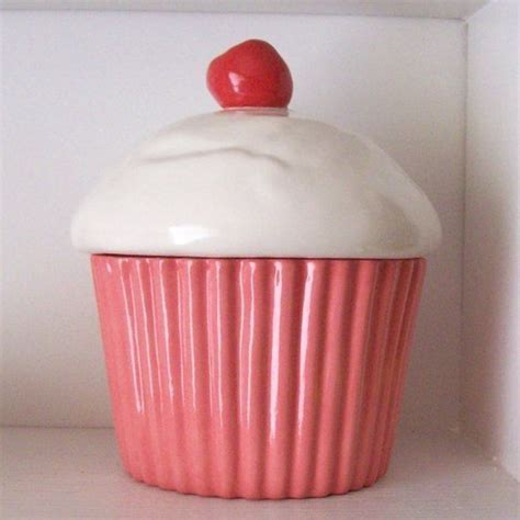 cupcake canister etsy 1000 ideas about cupcake cookie jar on pinterest cookie