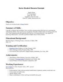 Resume Summary Examples For Students Resumes For Nursing Students Entry Level Nurse Resume