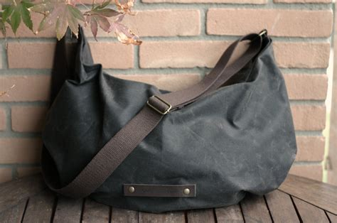 Handmade Hobo Bags - waxed canvas bag hobo bag wax canvas bag crossbody bag