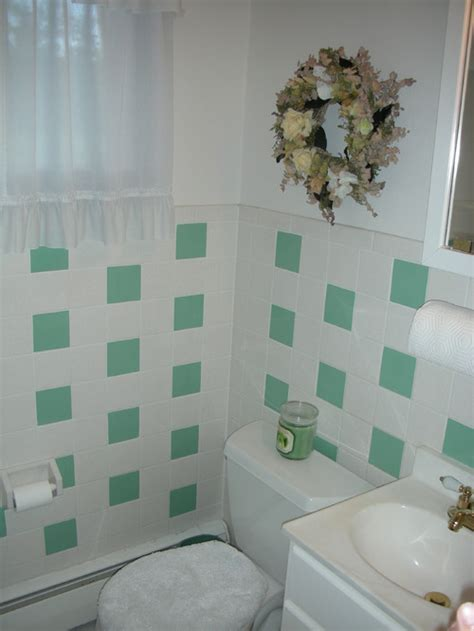 painted tiles bathroom painting bathroom tile vs replacing