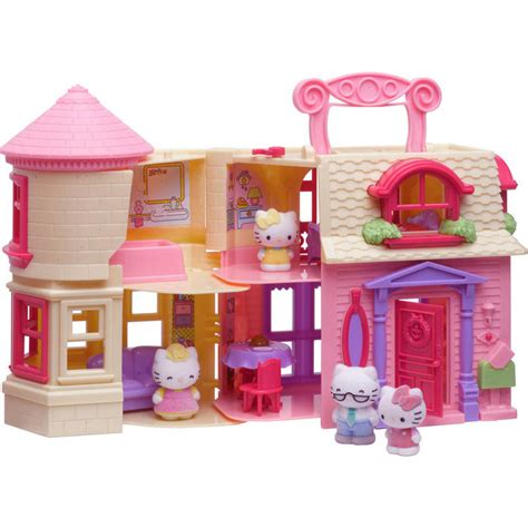 hello kitty dolls house furniture hello kitty happy home play set fold out doll house with 4