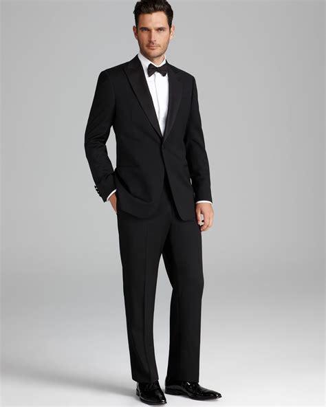 armani giorgio peak lapel tuxedo suit in for men lyst