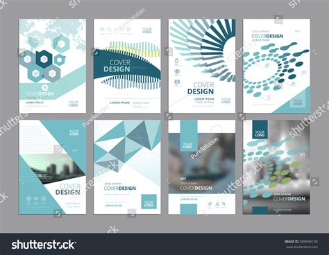 paper ad design templates set modern business paper design templates stock vector