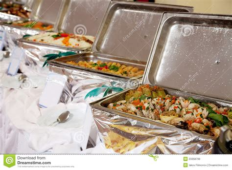buffet heated trays royalty free stock images image