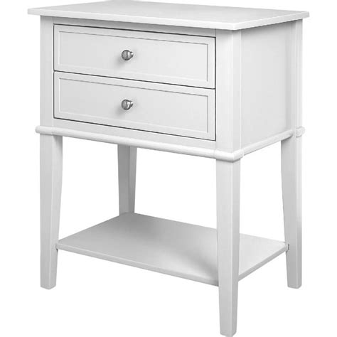 White Accent Table 2 Drawer Accent Table In White 5062096pcom
