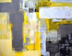 busy busy grey and yellow abstract art painting painting by carollynn tice