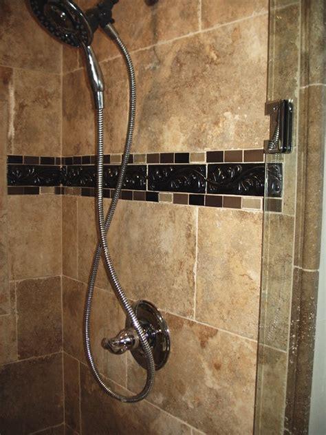 bathroom tile border shower tile border mediterranean bathroom cleveland by architectural justice