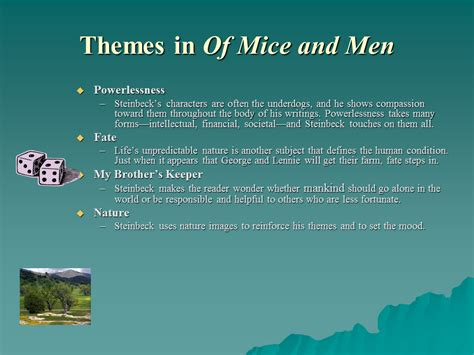 themes in of mice and men the setting in of mice and men sliderbase