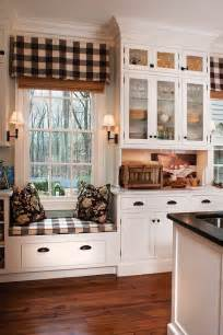 Curtains For Bay Windows With Window Seat 35 Cozy And Chic Farmhouse Kitchen D 233 Cor Ideas Digsdigs