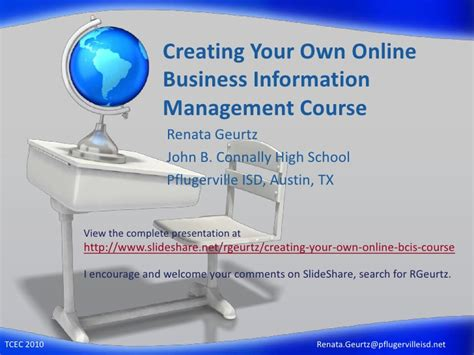 Best Information Managment Mba School by Creating Your Own Business Information Management