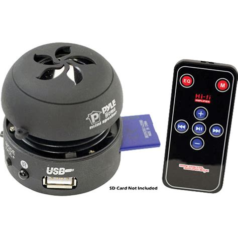 Speaker Usb Bass Mini pyle home bass expanding mini speaker with built in usb pmsu1b