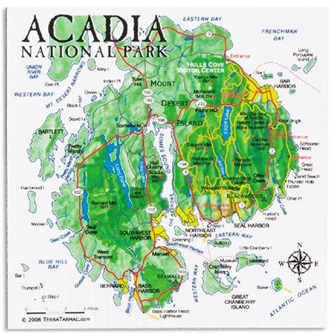 acadia national park map acadia national park map magnet eparks where your purchase supports america s national parks