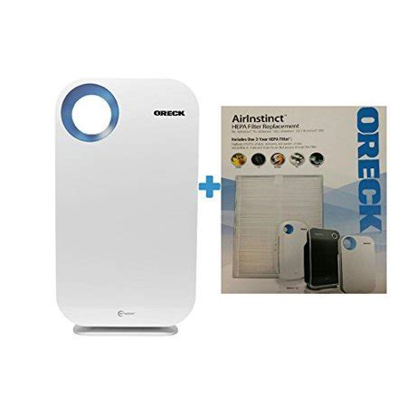 oreck airinstinct hepa large room air purifier w bonus hepa filter walmart