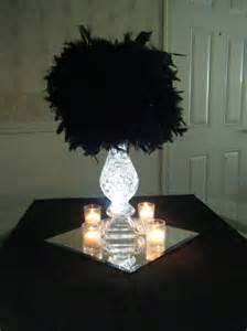 centerpiece with feathers bre2be s feather pom centerpieces weddingbee photo gallery