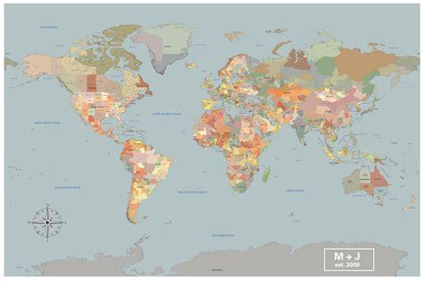 travel pin map cotton anniversary world push pin map color