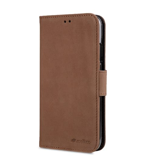premium leather for apple iphone xr wallet book id slot type classic vintage brown