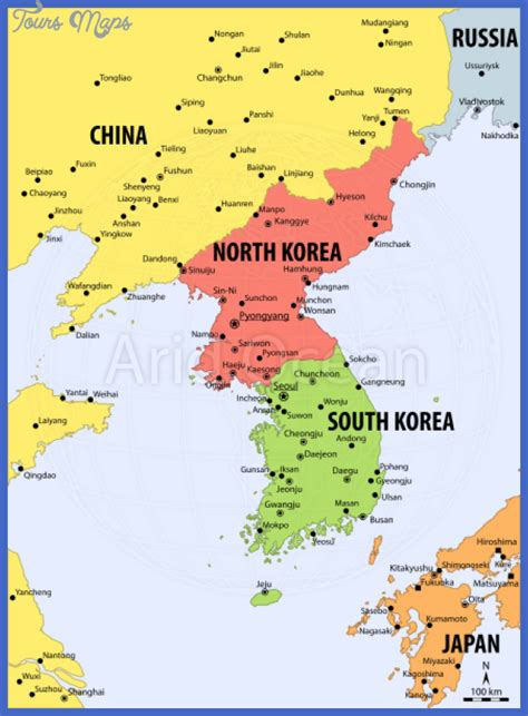 where is south korea on the map korea map images