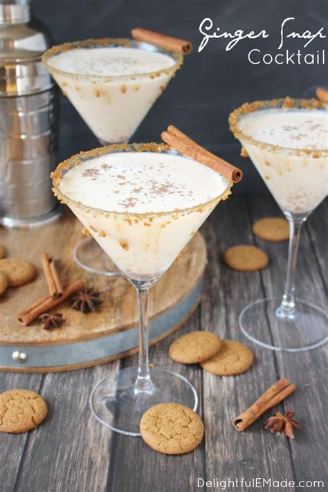 martini ginger ginger snap martini