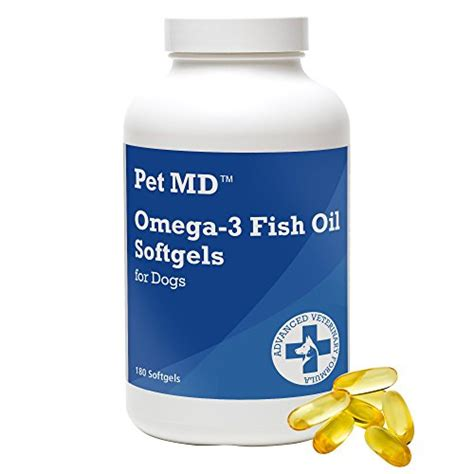 omega 3 supplements for dogs pet md omega 3 fish supplement for dogs skin coat joint and