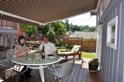 Patio Awning Grey Retractable Deck Awnings Rainier Shade