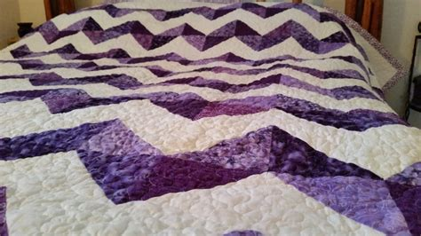Size Chevron Quilt Pattern by Purple Quilt Chevron Pattern Lg King Made To Order