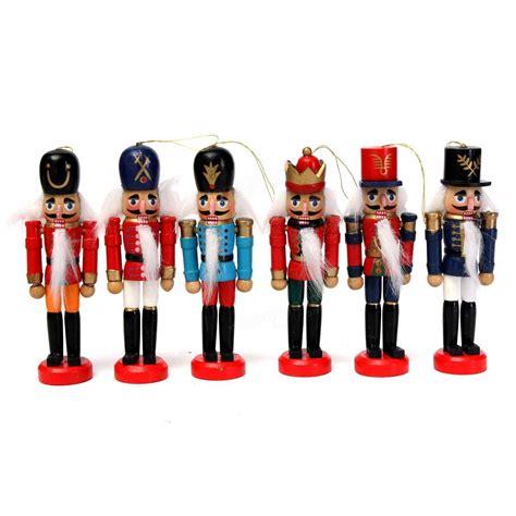 Handcraft Gift - 6pcs wooden nutcracker puppet decorations handcraft gifts