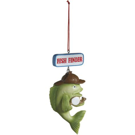 fish finder fishing christmas ornament midwest cbk