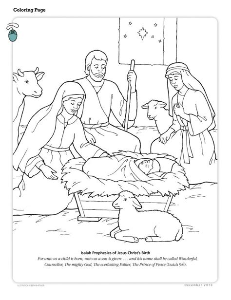 lds coloring pages of the savior nativity clipart color lds clipground