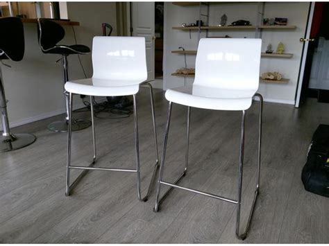 Ikea Glenn Bar Stool White two white ikea glenn bar stools saanich