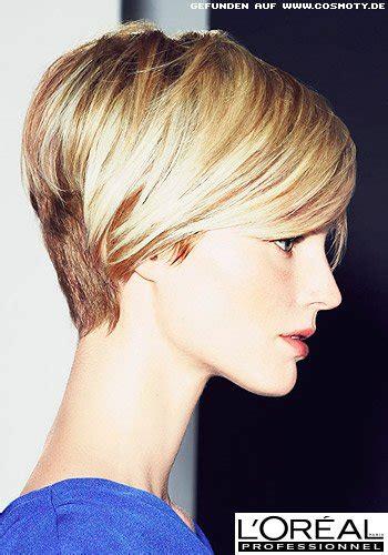 frisuren bilder langer pixie cut  zwei blond toenen