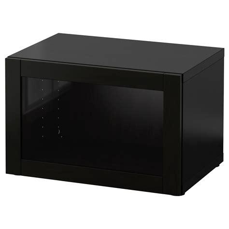besta shelf best 197 shelf unit with glass door sindvik black brown