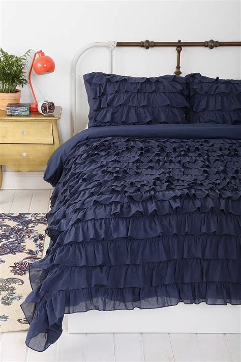 waterfall bedding waterfall ruffle duvet cover urban outfitters