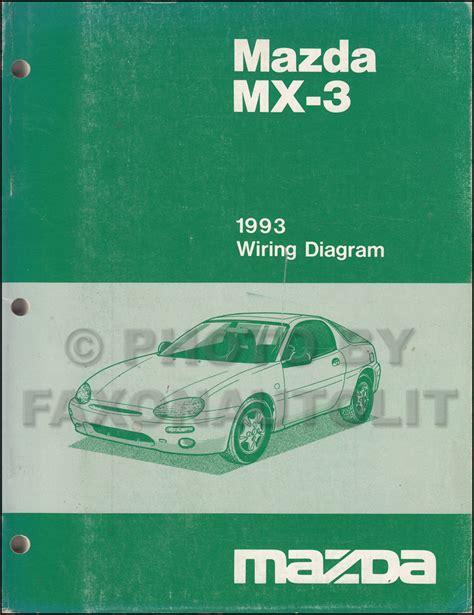 car maintenance manuals 1993 mazda mx 3 head up display 1993 mazda mx 3 repair shop manual original