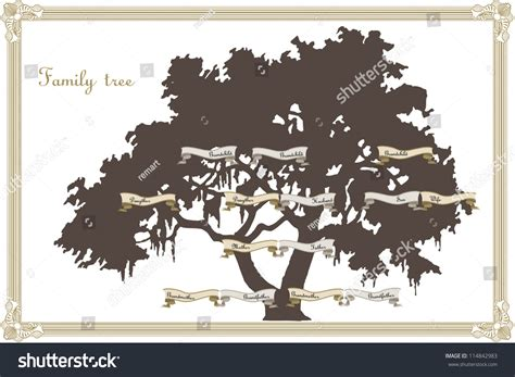 Family Tree Template Stock Vector 114842983 Shutterstock Family Tree Template Vintage Vector