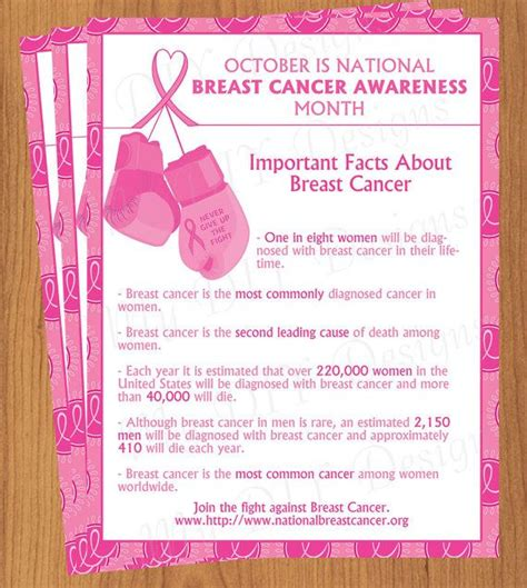 breast cancer brochure template breast cancer awareness flyer editable template