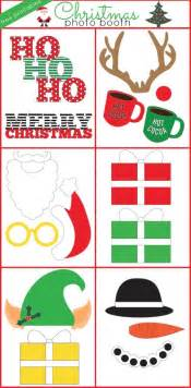 christmas photo booth free printables