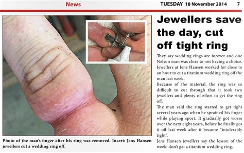 Wedding Ring Tight by Jewellers Save The Day Cut Tight Ring