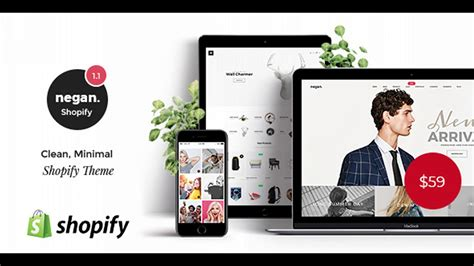 themeforest shopify negan clean minimal shopify theme themeforest website