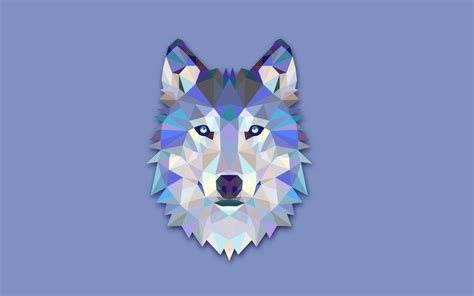 wallpaper abstract wolf facets full hd wallpaper and background image 2560x1600