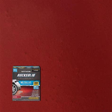 rust oleum rocksolid  oz metallic cherry bomb garage floor kit   home depot
