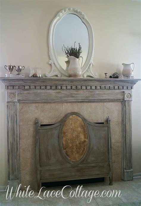Chalk Paint Meets Milk Paint Fireplace Mantle