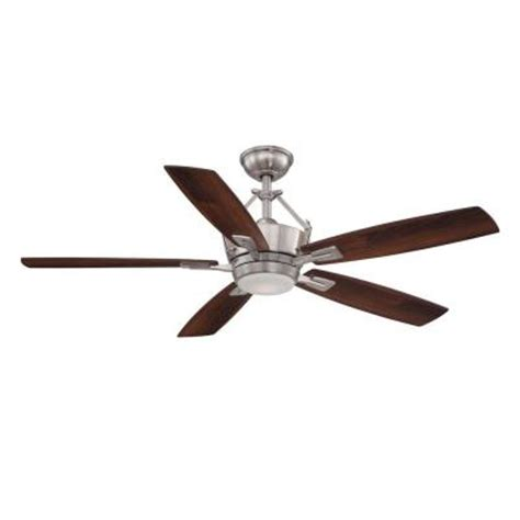 home decorators collection ceiling fan home decorators collection bordere 56 in led brushed