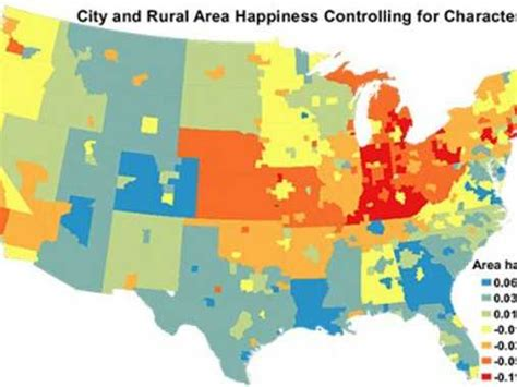 happiest states in america happiest and unhappiest cities in america business insider