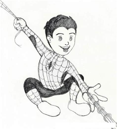 imagenes para pintar del hombre araña pintar spiderman best dibujo para colorear spiderman