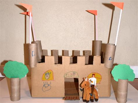 homemade building themed toilet paper roll crafts