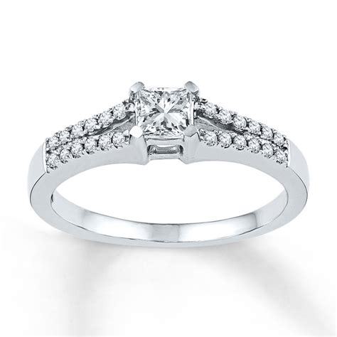jared engagement ring 1 2 ct tw princess cut 10k