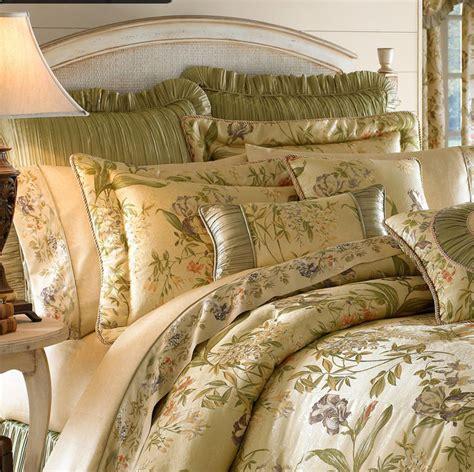 croscill iris ivory green floral king comforter set ndp